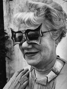 baroque sunglasses worn by Peggy Guggenheim