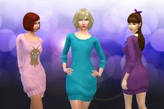 Sweater Long Tank for Females at My Stuff via Sims 4 Updates