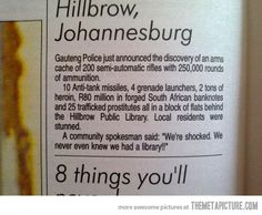 Funny pictures about Meanwhile in Johannesburg. Oh, and cool pics about Meanwhile in Johannesburg. Also, Meanwhile in Johannesburg. 100 Happy Days, R80, Meanwhile In, New South, In A Nutshell, South Africa, Funny Memes, Hilarious, Funny Signs