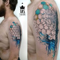 Geometric Hexagon Arm Tattoo | Best Tattoo Ideas & Designs