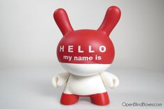 Dunny Series 3 - Huck Gee Hello My Name Is