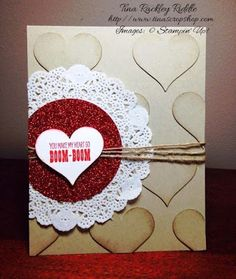 Tina's Crop Shop: OSAT Blog Hop - Love is in the Air!