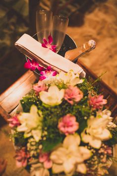 Prosecco & flowers for a marriage proposal on Koh Samui by  #samui weddings #events  Photo by Cherry May Ward