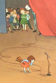 Qin Leng & Chieri Uegaki: Hana Hashimoto, Sixth Violin Character Concept, Character Design, Cartoon Family, Picture Description, Children's Book Illustration, Art Inspo, Animals And Pets, Character Inspiration, Childrens Books