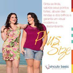 Vínculo Basic para um visual moderno e deslumbrante! #plussize