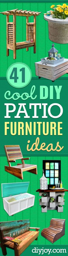DIY Patio Furniture Ideas Cheap Do It Yourself Porch and Easy Backyard Furnitu DIY Patio Möbel Ideen billig Do It Yourself Veranda und einfache Hinterhof Furnitu Patio Furniture Makeover, Cheap Patio Furniture, Backyard Makeover, Furniture Ideas, Garden Furniture, Pallet Furniture, Garden Makeover, Trendy Furniture, Chair Makeover