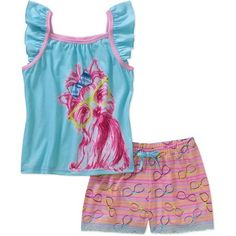 Girls' Yorkie 2 Piece Sleep Set