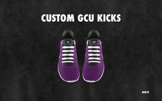 NIKEiD   Customized GCU kicks. I have nine days left of school. I deserve these.