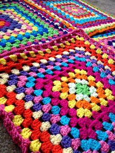 Four square baby blanket 60 x 60 custom granny squares