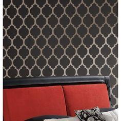 Moroccan Stencil Casablanca - Reusable stencils for walls and fabric | CuttingEdgeStencils - Craft Supplies on ArtFire