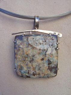 Australian Boulder Opal Pendant -- Love the setting but want more fire in my opal