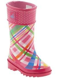 Gotta get some fun rain boots this spring for my kiddos.  Love the look of rain boots