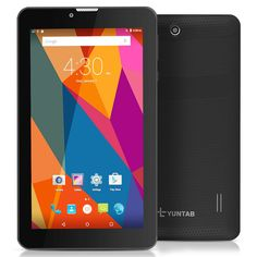 Yuntab E706 7 inch Google Android 5.1 Tablet 3G Cell phone Tablet PC 2G/ 3G/ Wifi 1GB+8GB MT83321 Quad-Core IPS 1024x600 Touch Screen With Bluetooth, Dual Camera, Netflix, Skype Supported (Black). 7 inch Yuntab tablet E706, Android 5.1 CPU MT83321 1.3GHz. Camera Dual camera: 0.3MP+2MP ,you can take dazzling photos and videos. Contents become incredibly detailed and razor sharp on this little thing. The world is so close and so clear to you, and changes under your fingertips. With 1GB+8GB...