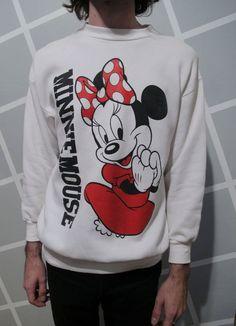 Vintage 1980s Minnie Mouse Crewneck Sweatshirt by Kokorokoko, $32.00