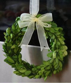 "It that's time to start decorating for fall. This cute little 8"" Boxwood fall wreath can hang just about anywhere. #fallwreaths  http://www.outdoortrunk.com/collections/wreaths/products/boxwood-round-wreath-8"
