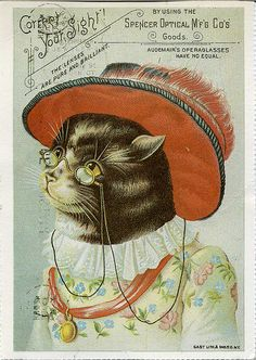 Granny Cat likes reading poetry and discussing sonnets. Love her. Vintage  Ads cb20064cc32e