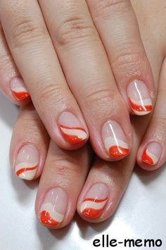 Swirl tip nails. Might be tricky to recreate but worth the try!