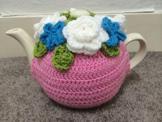 Floral tea cosy for a medium or large teapot by SpecialHandmade482