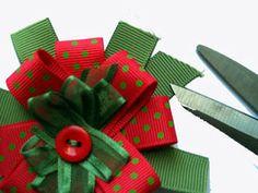 Christmas Ribbon Rosette from Craft Fairy