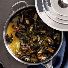 Mussels Marinière with Saffron