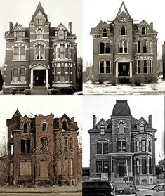 Lucien Moore House; Four Views :Originally owned by lumber baron Lucien Moore, 104 Edmund Place, designed in a French Renaissance Gothic Revival style and restored in 2006, has 7,000 sq ft (650 m2).[8][37] The Lucien Moore House restoration was featured December 27, 2005 by HGTV's restore America Initiative in partnership with the National Trust for Historic Preservation. As of 2012, it is being developed into condos.  City of Windsor, Ontario, Town of Essex,