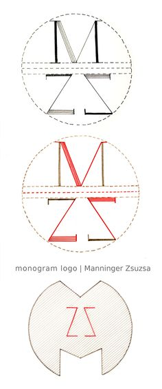 Manninger Zsuzsa, monogram logo