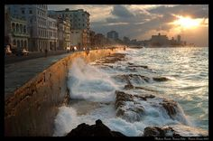Malecon, Cuba. Not my photo but it is one of my favourite places.