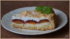 Kokosovo-vločkový koláč se švestkami Cheesecake, Desserts, Food, Tailgate Desserts, Deserts, Cheesecakes, Essen, Postres, Meals