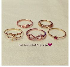 Dainty rings ....If they weren't gold they would be perfect.