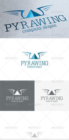 Pyrawing  Logo Design Template Vector #logotype Download it here: http://graphicriver.net/item/pyrawing-logo/3689108?s_rank=332?ref=nexion