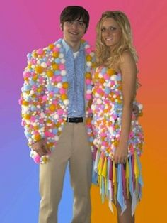 worst prom dresses - Google Search cotton ball prom