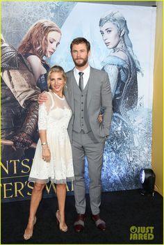 Chris Hemsworth & Jessica Chastain Attend 'The Huntsman' Premiere
