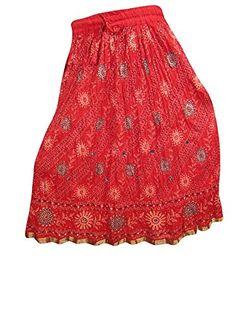 Indian Skirt Designer Women's Wear Red Crinkle Printed Sk... http://www.amazon.com/dp/B01FSHGEAO/ref=cm_sw_r_pi_dp_4T1oxb0MEX211