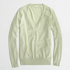 JCrew V-neck sweater in a light mint color!  I'm so ready for Fall!