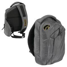 Logo Brands 12 NCAA Game Changer Sling Backpack - Iowa Hawkeyes