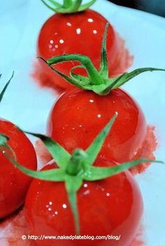 Mozzarella mousse with tomato gel   Nakedplateblog Molecular Gastronomy, food science