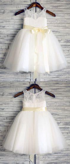 White Flower Girl Dresses Tutus, Country Flower Girl Dresses White,Vintage Flower Girl Dresses Cute