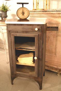 Antique medical dental cabinet