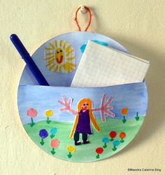 Maestra Caterina - Festa della mamma: porta appunti Cd Crafts, Diy Home Crafts, Easter Crafts, Arts And Crafts, Spring Crafts For Kids, Art For Kids, Mother's Day Projects, I Love You Mom, Preschool Games