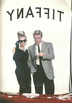 Audrey Hepburn and George Peppard, 1961. Publicity shot for Breakfast at Tiffany's