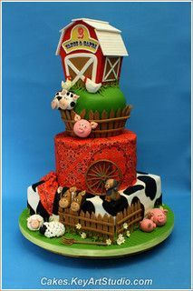 Farm-barn-yard-cake-02 by Cakes.KeyArtStudio.com, via Flickr