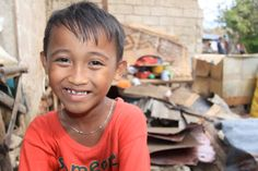 This little guy, a sponsored 7-year-old named Christian, lost his home in Typhoon Haiyan. He's had a hard life ... his mom died last year after being attacked by a dog. Compassion is helping him and other children like him. Read his story and consider donating to help Filipinos!