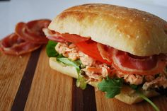 Salmon PLT - Pancetta, Lettuce and Tomato Texture, flavor and ...