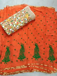 Latest designer georgette sarees