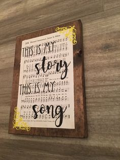 Blessed assurance, this is my story this is my song, hymn board, hand painted, handmade, wood sign, by BlessedMessCo on Etsy https://www.etsy.com/listing/485908149/blessed-assurance-this-is-my-story-this
