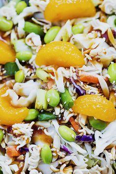 Asian Ramen Noodle Salad   Creme de la Crumb Pasta Salad For Kids, Salads For Kids, Pasta Salad Recipes, Asian Ramen Noodle Salad, Ramen Noodle Recipes, Ramen Noodles, Potluck Salad, Pork Salad, Gastronomia