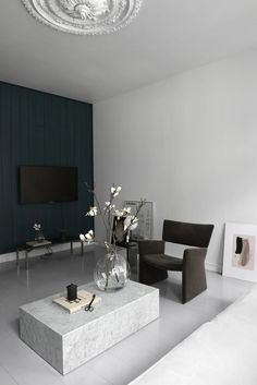 Interior Minimalista, Minimalist Interior, Minimalist Home, Living Room Designs, Living Room Decor, Bedroom Decor, Dining Room, Decor Scandinavian, Living Room Remodel