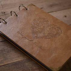 Personalized A4 Monogrammed Engraved Photo Album/ Kraft Scrapbook Albu – DokkiDesign