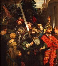 The German Landsknechts, sometimes also rendered as Landsknechte were colourful mercenary soldiers with a formidable reputation, who became an important military force through late 15th- and 16th-century Europe. Consisting predominantly of German mercenary pikemen and supporting foot soldiers, they achieved the reputation for being the universal mercenaries of early modern Europe.