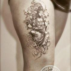 #guanyin #tattoo #finelines #epureatelier #marieroura #divinity